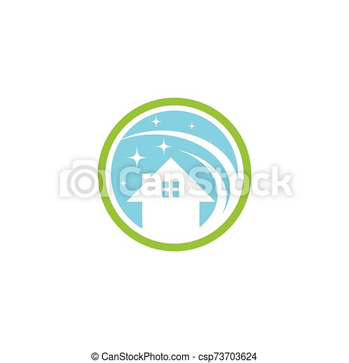 haus, logo, reiniger, vektor - csp73703624