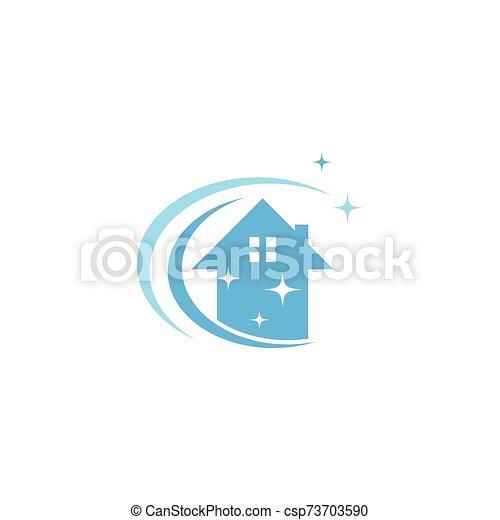 haus, logo, reiniger, vektor - csp73703590