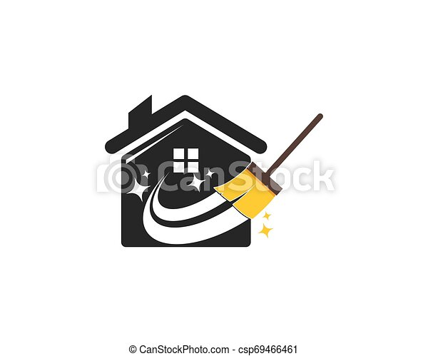 Hausreiniger Logo-Vektor. - csp69466461