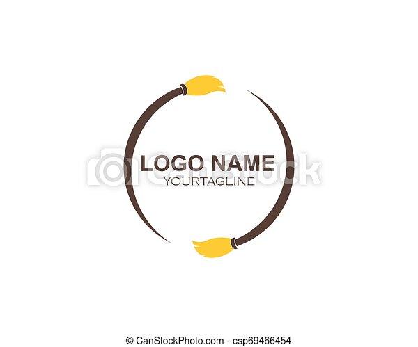 Hausreiniger Logo-Vektor. - csp69466454
