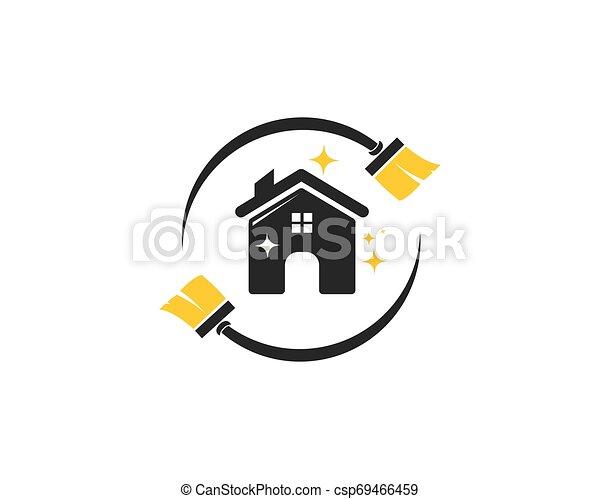 Hausreiniger Logo-Vektor. - csp69466459