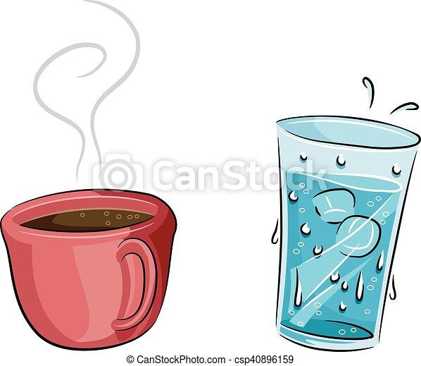 Heißes kaltes Kaffeewasser. - csp40896159