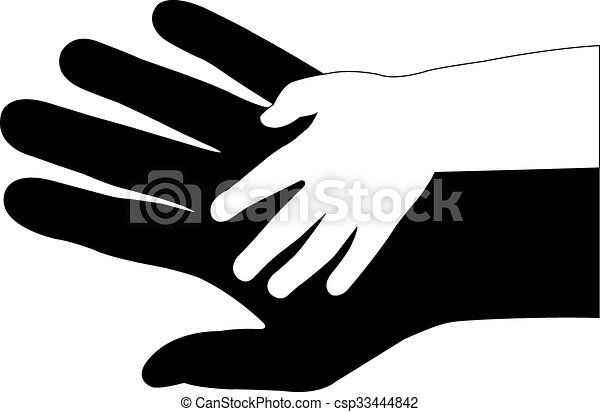 Ich helfe den Händen - csp33444842