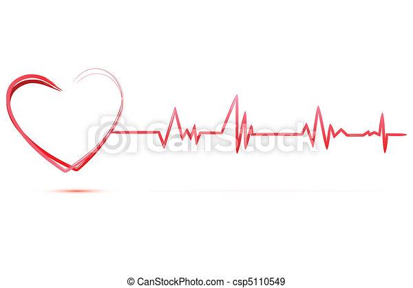 Herz mit Kardiologie - csp5110549