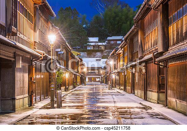 Historische Straßen von kanazawa japan. - csp45211758