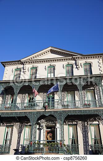 Historische Villa in Charleston - csp8756260