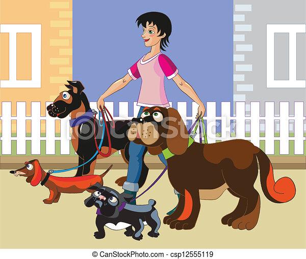Hunde laufen. - csp12555119