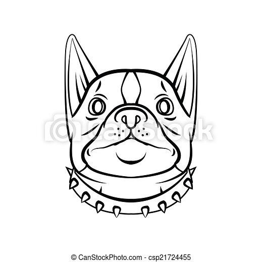 Hundekopf. - csp21724455