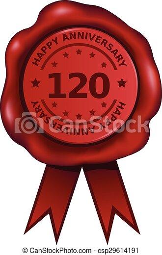Hundert zwanzigsten Jahrestag - csp29614191