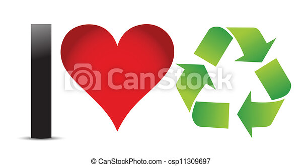 Ich liebe Recycling-Illustration - csp11309697