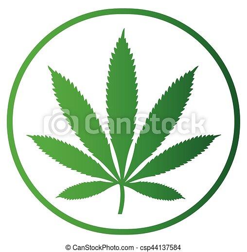 ikone, design, cannabis - csp44137584