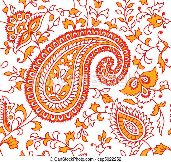 indische textilmuster indische nahtlose textilmuster