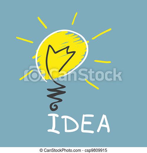 Innovative Lampe. Idee - csp9809915