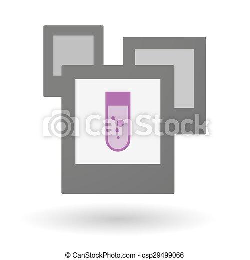 Isolierte Fotogruppe mit einem chemischen Testrohr. - csp29499066