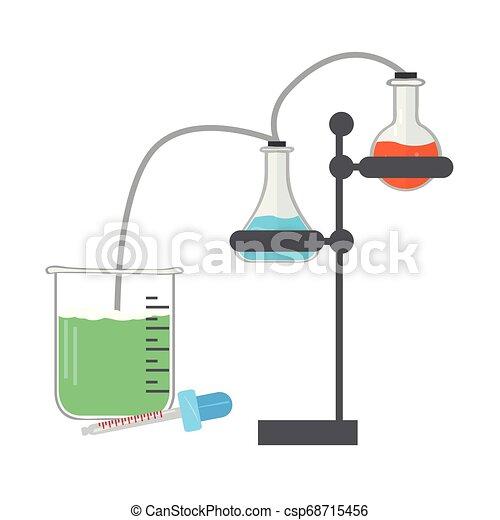 Isoliertes chemisches Experimentbild - csp68715456