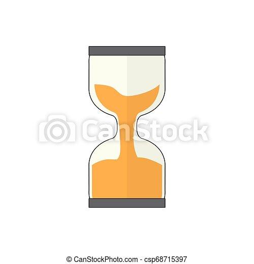 Isoliertes Stundenglasbild - csp68715397