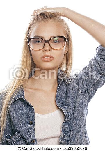Hübsche mädchen blonde Junge hübsche