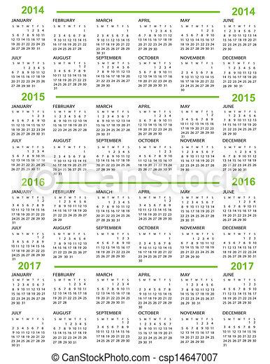 Kalender, neues Jahr 2014, 2015, 20 - csp14647007