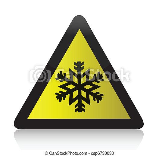 Kaltes Warnzeichen - csp6730030