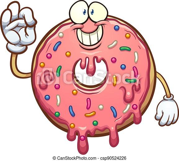 karikatur, donut - csp90524226