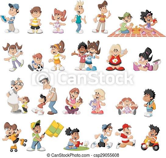 Kartoon-Leute - csp29055608