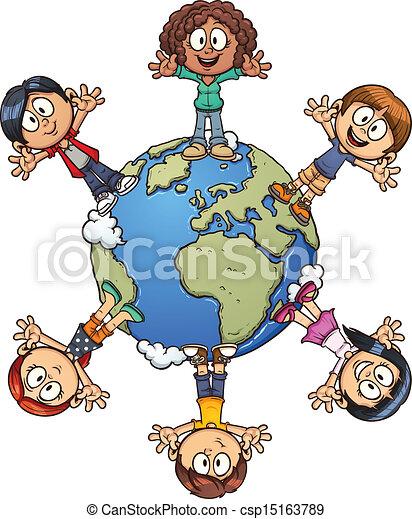 Cartoon-Kinder - csp15163789