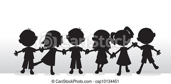 Kinder sind im Hintergrund - csp10134451