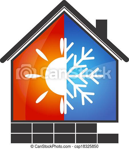 Klimaanlagensymbol. - csp18325850
