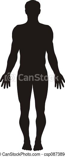 koerper, silhouette, menschliche  - csp0873894