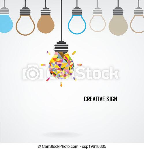 Kreative Glühbirne Idea Konzept Hintergrund - csp19618805