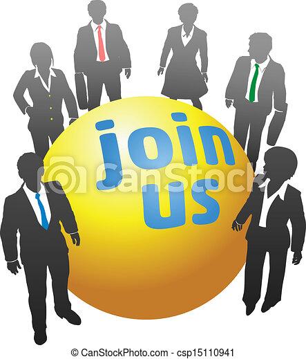 Vereinige dich mit Geschäftsleuten - csp15110941