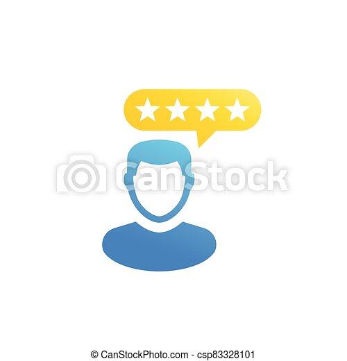 kunde, erfahrung, kritik, ikone - csp83328101