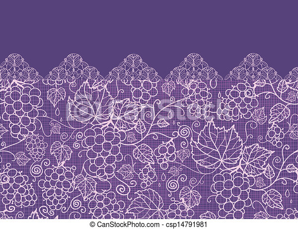 Lace-Trauben-Reben horizontal nahtlos im Hintergrund - csp14791981