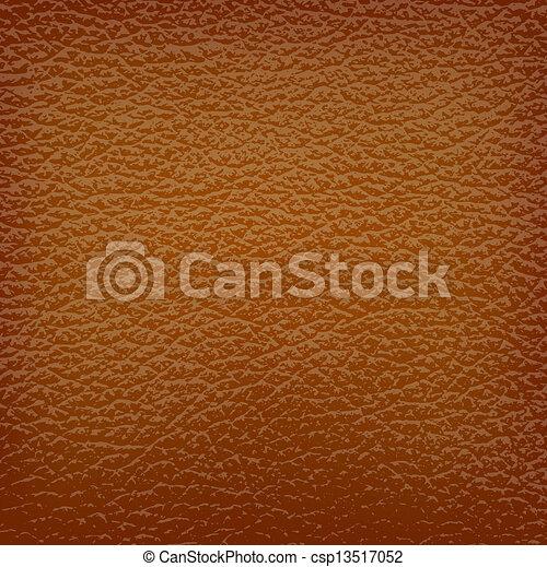 leder, brauner, vektor, illustration., hintergrund. - csp13517052