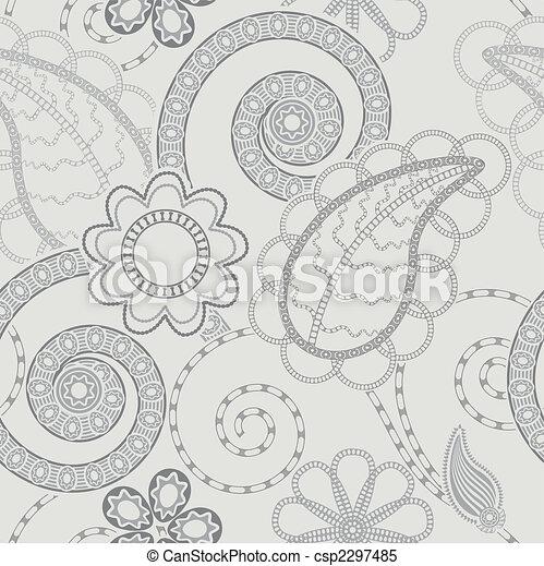 Leichtes Blumenmuster im Hintergrund - csp2297485