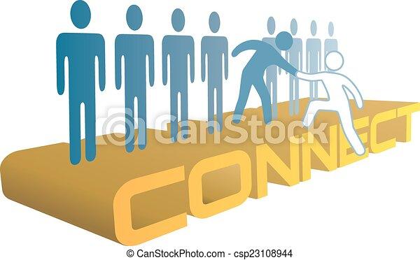 leute, verbinden, beitreten, auf, gruppe, hand, hilfe - csp23108944