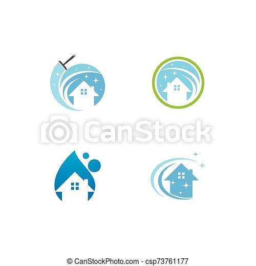 logo, reiniger, haus - csp73761177