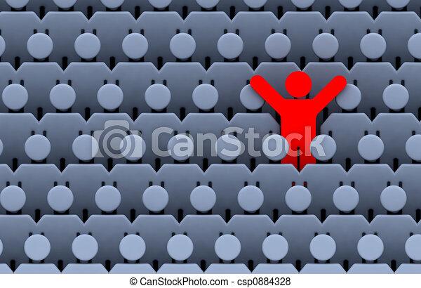 Männer unter Menschenmengen - csp0884328