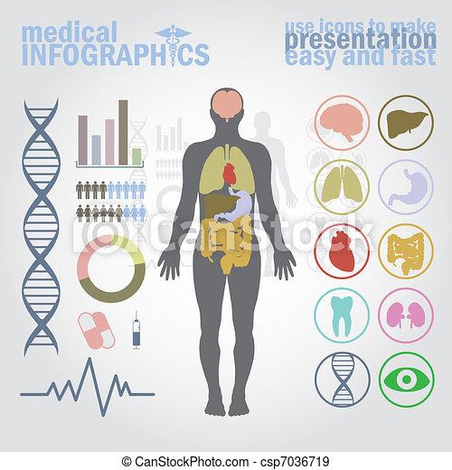 medizin, infographics - csp7036719