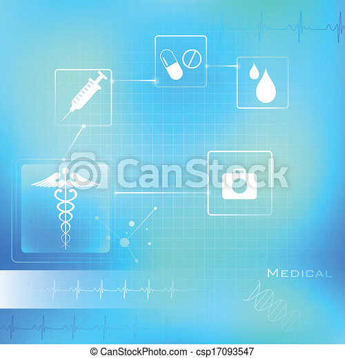 Medizinischer Hintergrund. - csp17093547