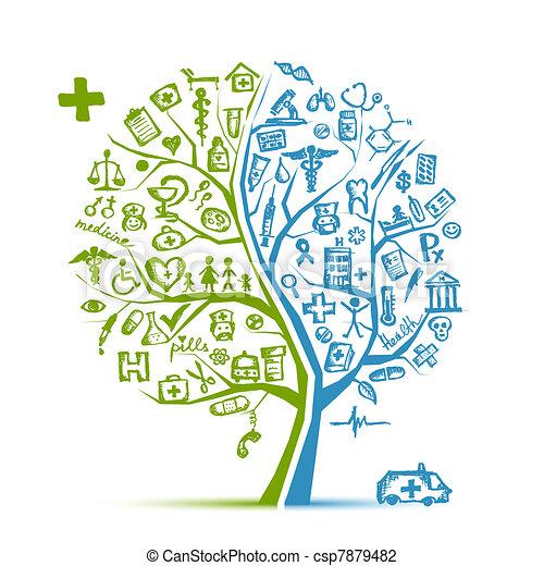 Medizinisches Baumkonzept für dein Design - csp7879482
