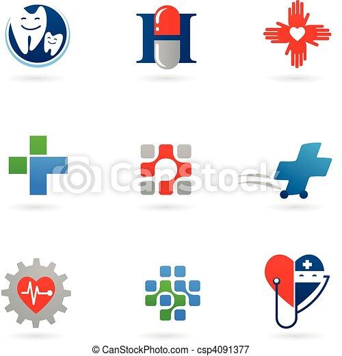 Medizin und Gesundheits-Ikonen - csp4091377