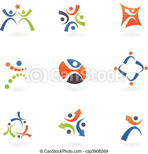 Menschliche Ikonen und Logos 2 - csp3908269