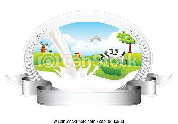Milch mit Weidenkuh - csp10430983