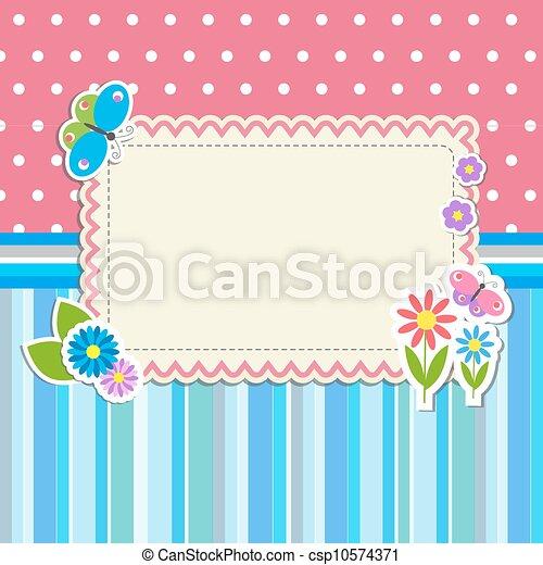 Mit Blumen und Schmetterlingen - csp10574371