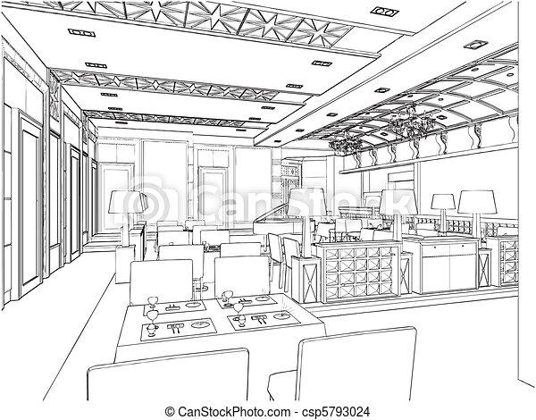 Modernes Restaurant - csp5793024