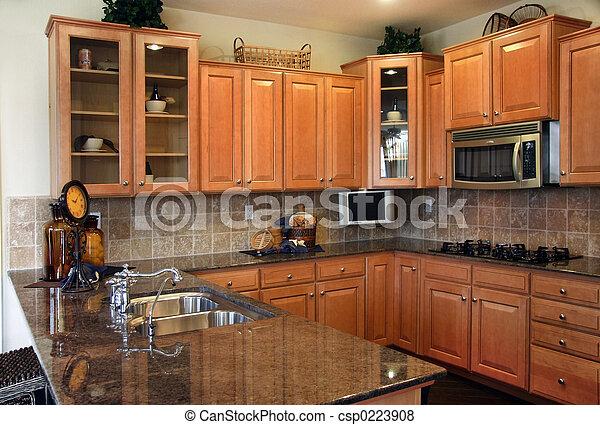 Moderne Küche - csp0223908