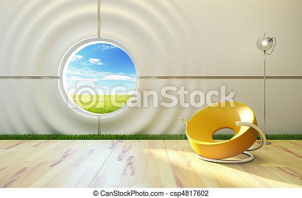 Moderne Lounge-Innen - csp4817602