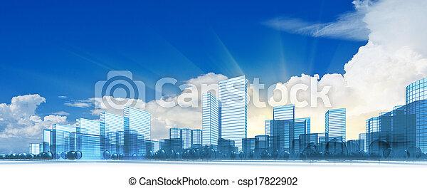 Moderne Stadt - csp17822902