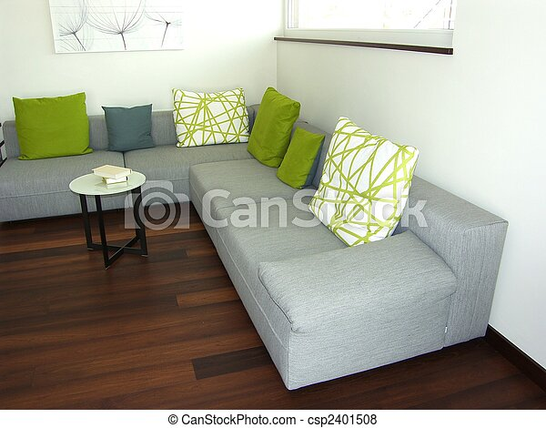 Modernes Wohnzimmer - Lounge - csp2401508